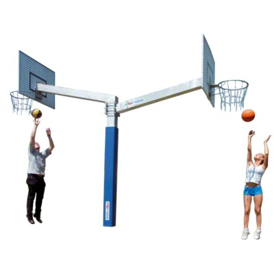 Sport-Thieme® Basketballanlage ''''Fair Play Duo'''', Zielbretter aus Aluminium, Korb ''''Outdoor''''