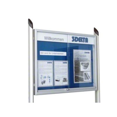 Schiebetüren-Schaukästen für den Innenbereich, 1.750x975x55 mm, 24x DIN A4