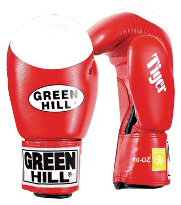 Green Hill® Boxhandschuhe ''''Tiger'''', 10 oz., Rot
