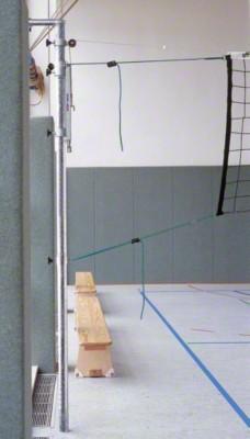 Volleyballpfosten zum Einhängen, Als Gegenpfosten