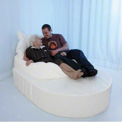 Musik-Sitzsack, PU-Bezug in weiß