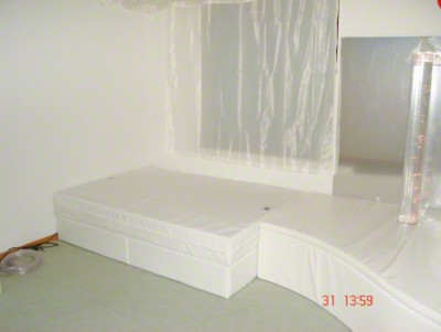 Rompa®-Musikwasserbett, 160x200x45 cm hoch, Mit 4 Pulsgebern