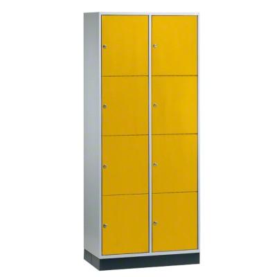 """Großraum-Schließfachschrank """"S 4000 Intro"""" (4 Fächer übereinander), Sonnengelb (RDS 080 80 60), 195x82x49 cm/ 8 Fächer"""