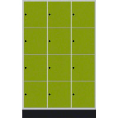 """Schließfachschrank """"S 4000 Intro"""" (6 Fächer übereinander), Viridingrün (RDS 110 80 60), 195x62x49cm/ 12 Fächer"""