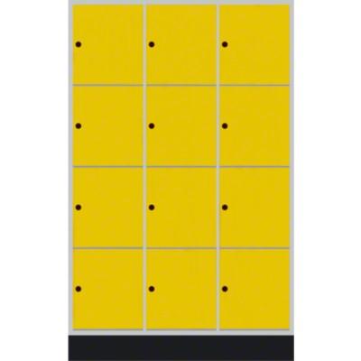 """Schließfachschrank """"S 4000 Intro"""" (6 Fächer übereinander), Sonnengelb (RDS 080 80 60), 195x62x49cm/ 12 Fächer"""