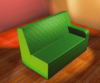 2er Sitzbank mit Armlehne rechts