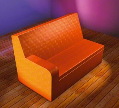 2er Sitzbank mit Armlehne links