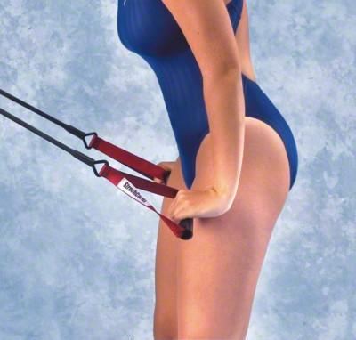 StrechCordz® mit Handschlaufen, Blau, Zugstärke 6,3-15,4 kg