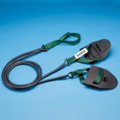 StrechCordz® mit Handpaddel, Grün, Zugstärke 3,6-10,8 kg