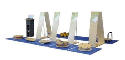 Koordinationsparcours ''''Kids'''', Gerätesatz mit 6 Stationstafeln