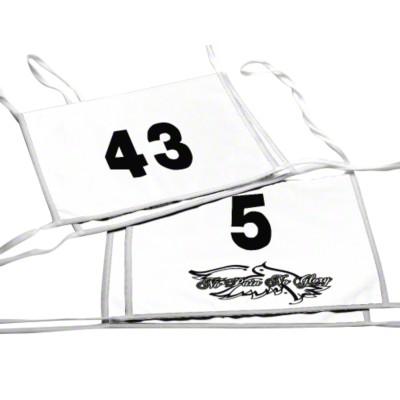 Doppel-Startnummer, Zahlen 1- oder 2-stellig, Blau