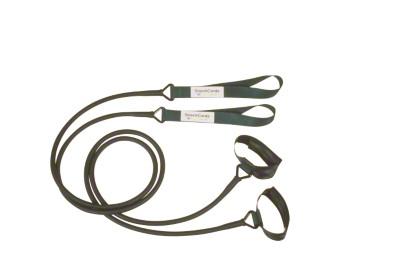 Auslaufmodell - StrechCordz® mit Beinschlaufen, Silber (Zugstärke 1,3-3,6 kg)