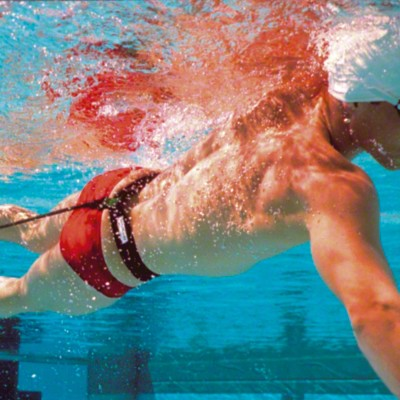 StrechCordz® Aqua-Gym Long-Belt, Grün, Zugstärke 3,6-10,8 kg