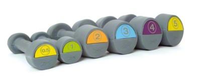 Reebok® rubberen halters,  Oranje, 2 kg