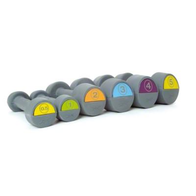 Reebok® Hantel, gummiert, Gelb, 5 kg