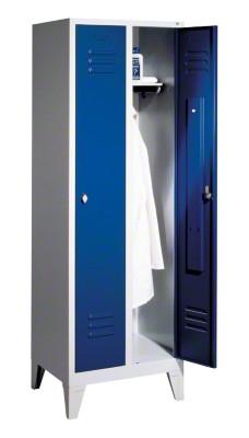 Garderobenschrank ''''S 2000 Classic'''' mit 150 mm hohen Füßen, 1.850x810x500 mm /2 Abteile