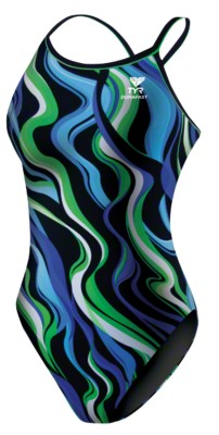 TYR® Badeanzug ''''Shockwave'''' Girls, Blau-Grün
