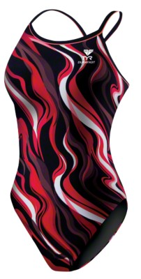 TYR® Badeanzug ''''Shockwave'''' Girls, Rot